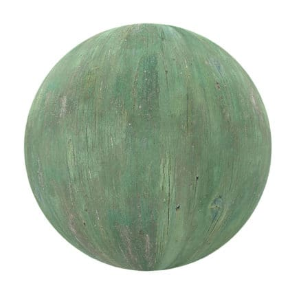Green Painted Wood PBR Texture