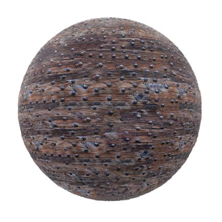 Old Studded Wood PBR Texture