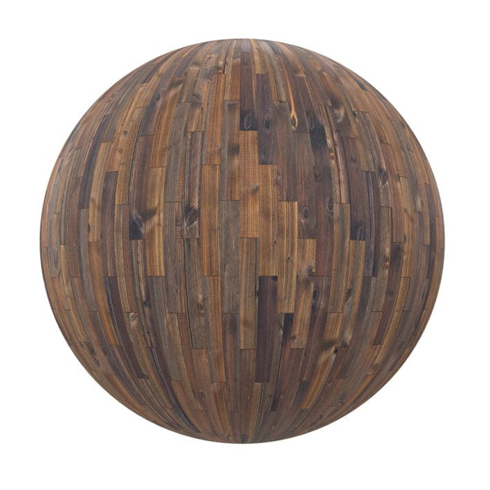 Old Wood Tiles PBR Texture