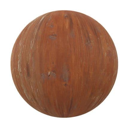 Orange Painted Wood PBR Texture