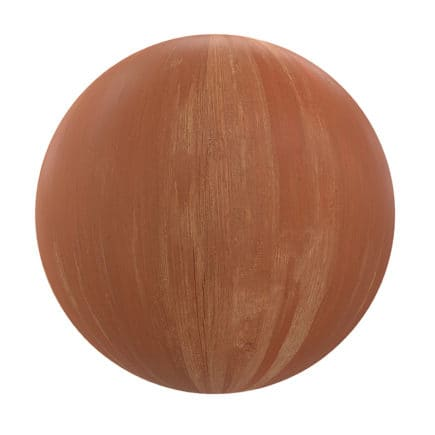 Orange Painted Wood PBR Texture