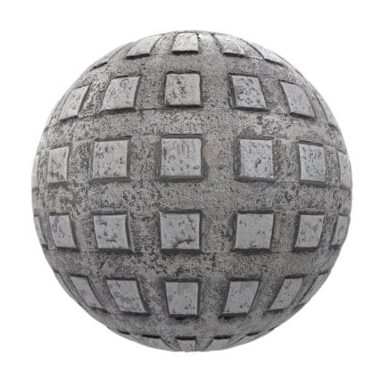 Patterned Old Metal PBR Texture