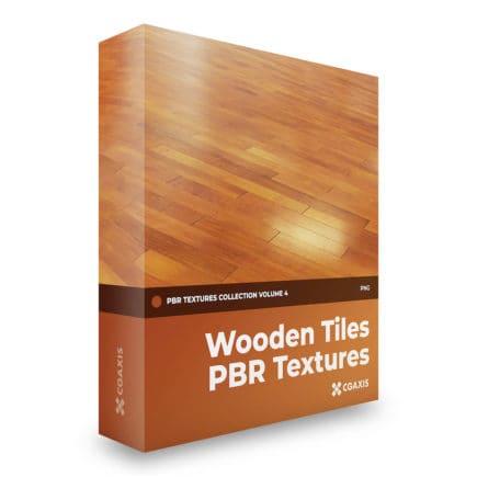 wooden tiles pbr textures