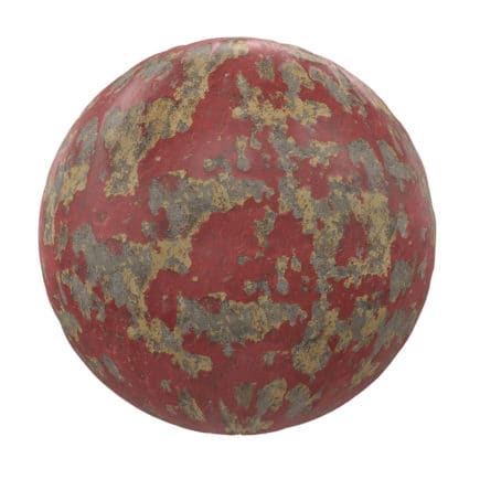 Red Painted Concrete PBR Texture