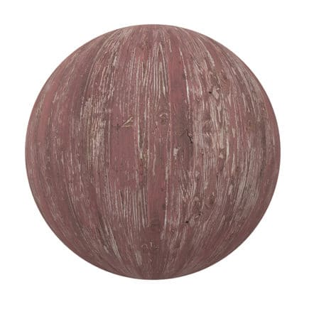 Red Painted Old Wood PBR Texture