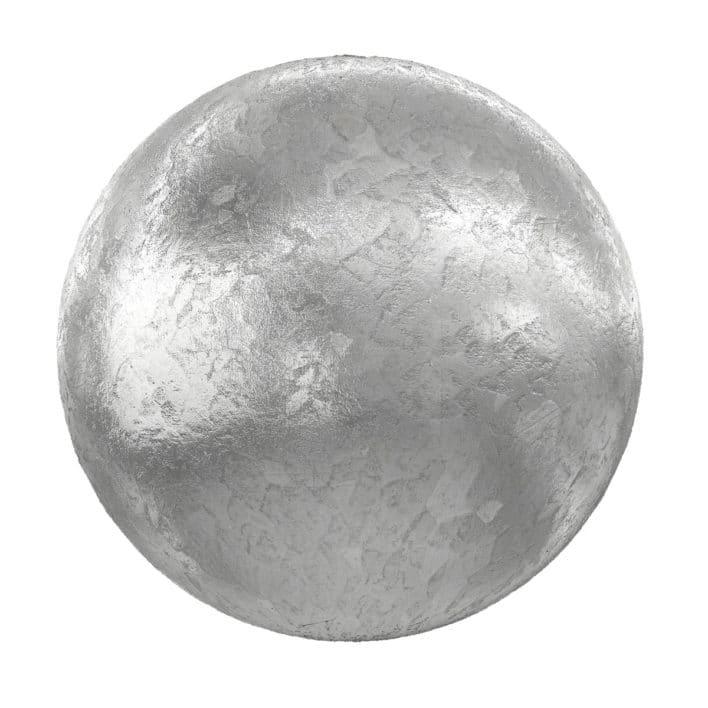 Rough Shiny Metal PBR Texture