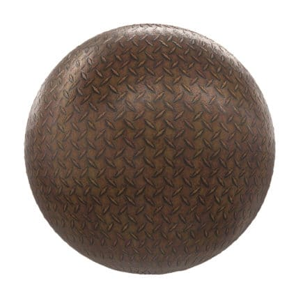 Rusty Patterned Metal PBR Texture