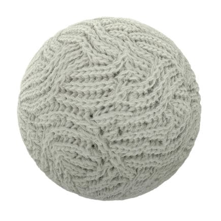 White Wool Fabric PBR Texture