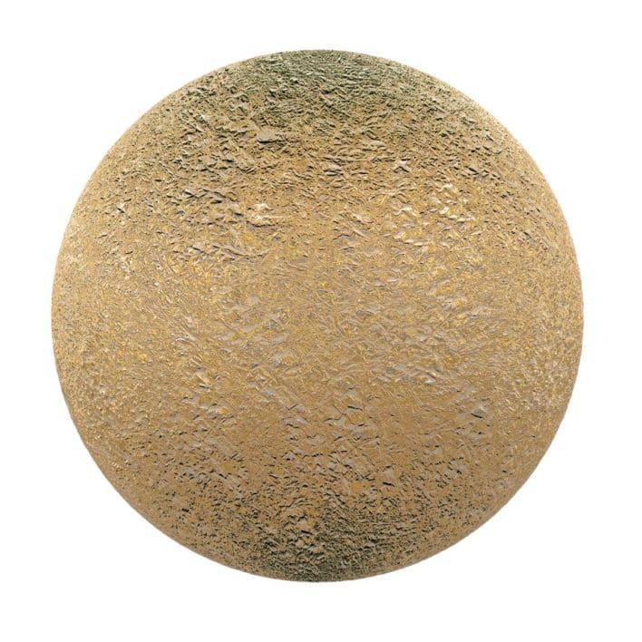 Wrinkled Gold Foil PBR Texture
