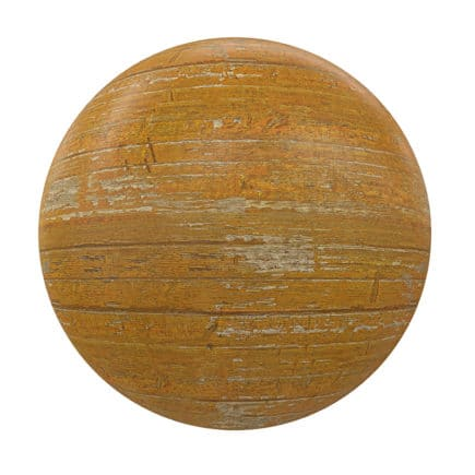 Yellow Painted Wood PBR Texture