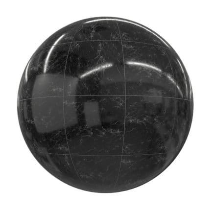 Black Marble Tiles PBR Texture