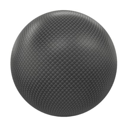 Black Quilted Leather PBR Texture