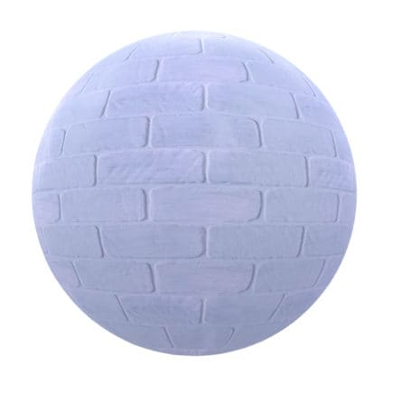 Blue Brick Wall PBR Texture