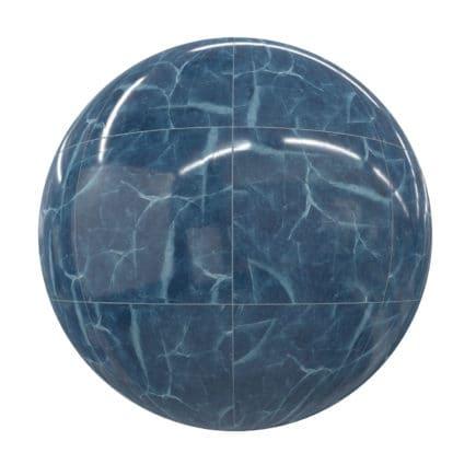 Blue Marble Tiles PBR Texture