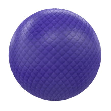 Blue Quilted Leather PBR Texture