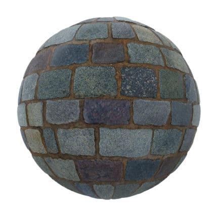Blue Stone Pavement PBR Texture