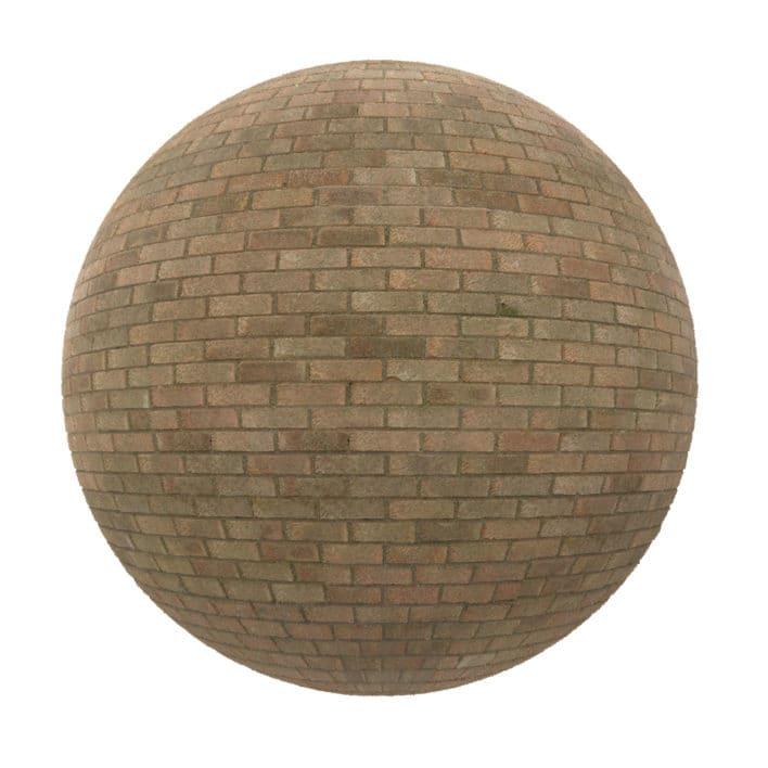 Brown Brick Wall PBR Texture