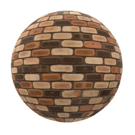 Brown Brick Wall PBR Texture