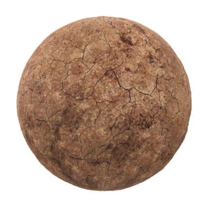 Brown Dry Mud PBR Texture