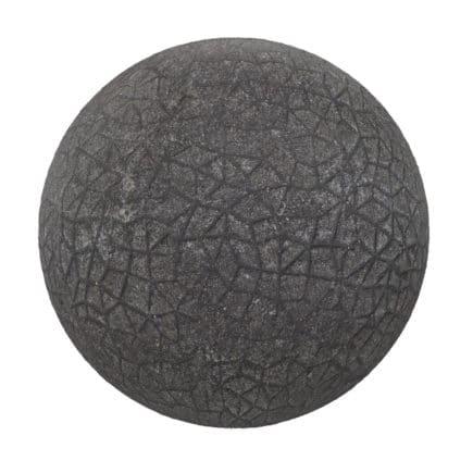 Dark Concrete Pavement PBR Texture