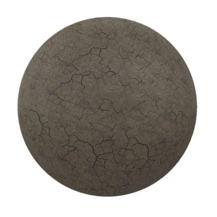 Dark Cracked Dirt PBR Texture