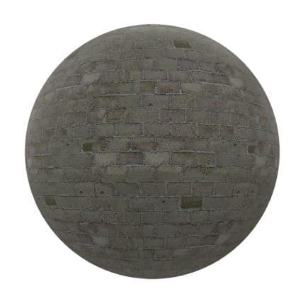 Dark Stone Brick Wall PBR Texture