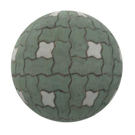 Green Concrete Pavement PBR Texture