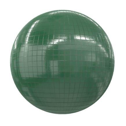 Green Tiles PBR Texture
