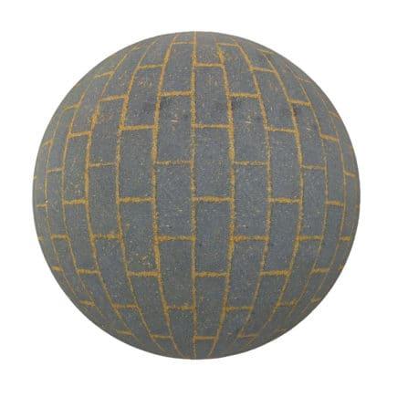 Grey Brick Pavement PBR Texture