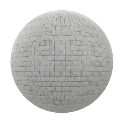 Grey Tile Pavement PBR Texture