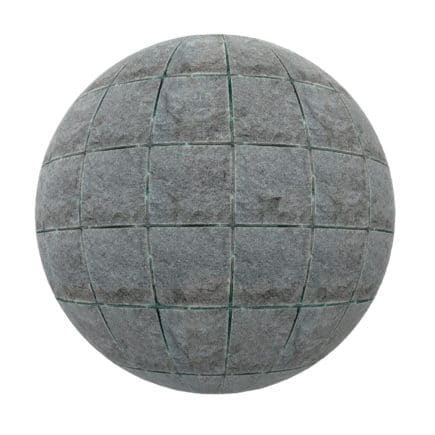 Old Grey Tiles PBR Texture