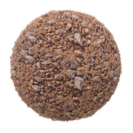Orange Dirt with Stones PBR Texture