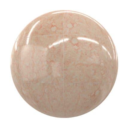 Orange Marble Tiles PBR Texture