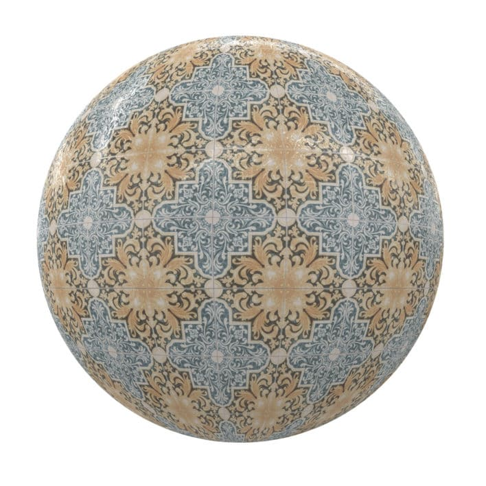 Patterned Tiles PBR Texture