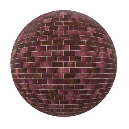 Purple Brick Wall PBR Texture