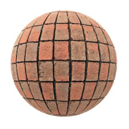 Red Brick Pavement PBR Texture