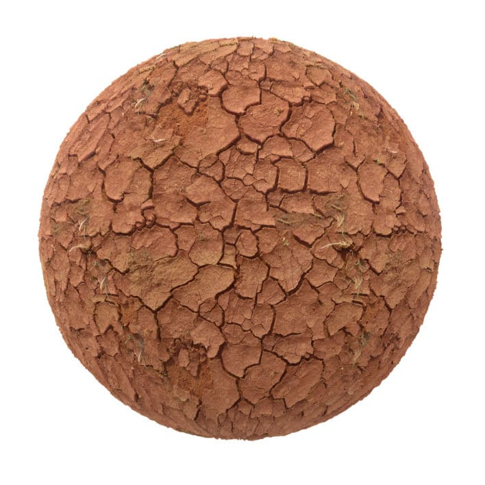 Red Dry Cracked Dirt PBR Texture