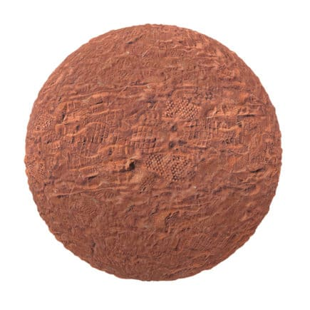 Red Sand with Footprints PBR Texture
