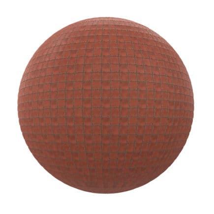 Red Tiles Pavement PBR Texture