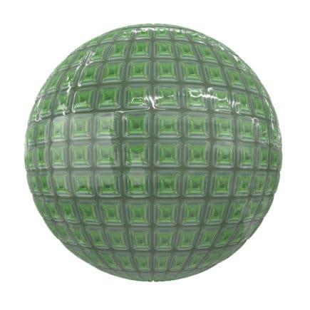 Shiny Green Tiles PBR Texture