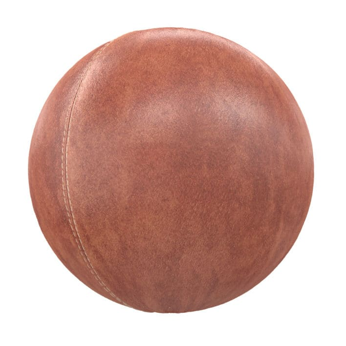 Stitched Brown Leather PBR Texture