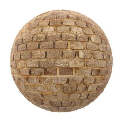 Stone Brick Wall PBR Texture