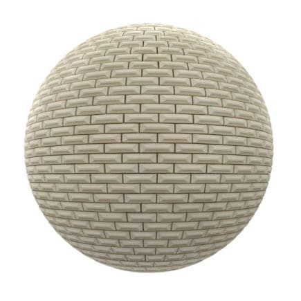 White Brick Wall PBR Texture