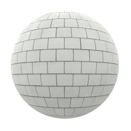 White Brick Wall PBR Texture