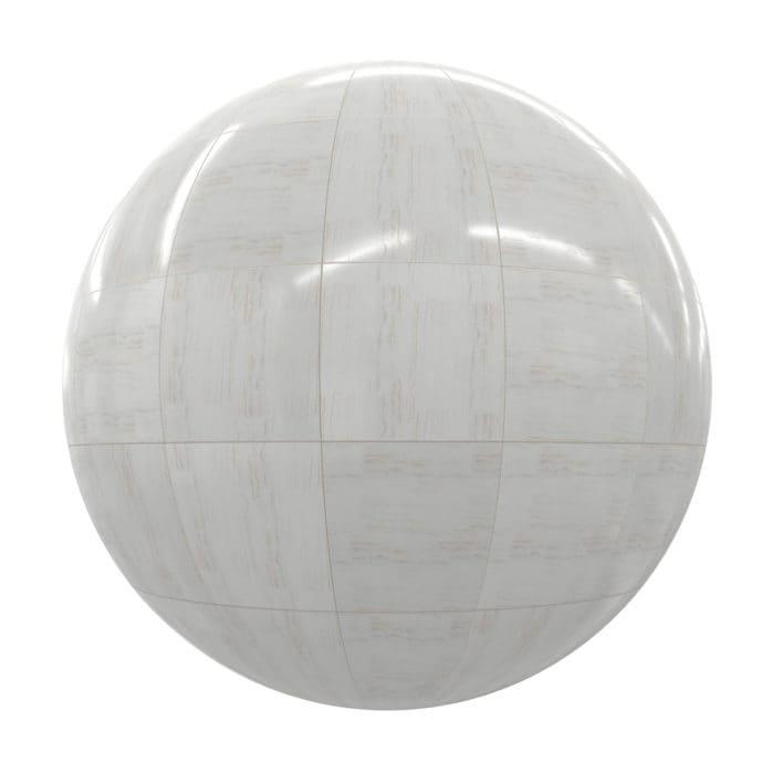 White Marble Tiles PBR Texture