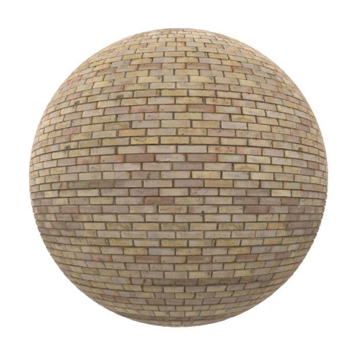 Yellow Brick Wall PBR Texture