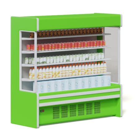 Green Market Fridge 3D Model