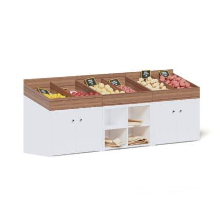 Market Shelf 3D Model - Vegetables