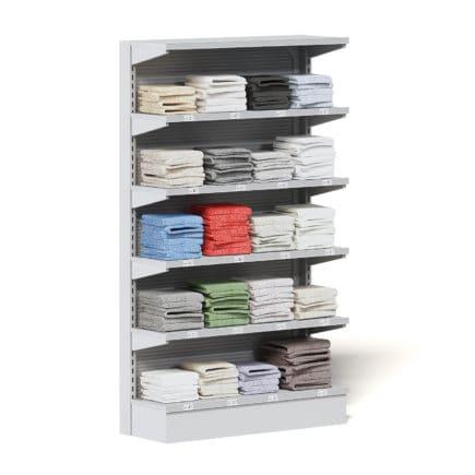 Market Shelf 3D Model - Towels