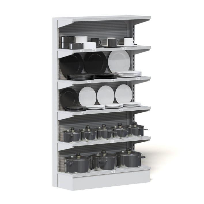 Market Shelf 3D Model - Plates and Pots